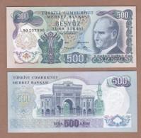 AC - TURKEY - 6th EMISSION 500 TL L UNCIRCULATED - Turchia