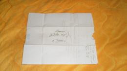LETTRE ANCIENNE DE 1818. / DIJON A SEURRE. / MARQUE 20 DIJON + TAXE. - Marcophilie (Lettres)