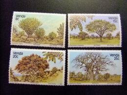 AFRIQUE DU SUD VENDA 1982 Flore Arbres Flora Arboles Yvert Nº 62 / 65 ** MNH - Venda