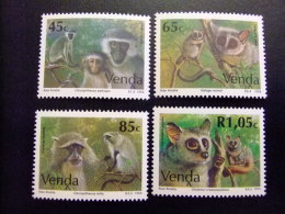 AFRIQUE DU SUD VENDA 1994 Fauna Los Monos Faune Les Singes Yvert Nº 269 / 272 ** MNH - Venda