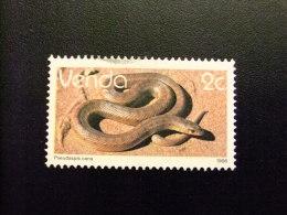 AFRIQUE DU SUD VENDA 1986 Reptiles Serpientes Yvert Nº 121 º FU - Venda