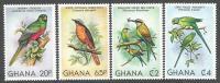 Ghana 1981 Trogon Robin Bee-eater Parakeet Michel 872A-75A Mint Set - Ghana (1957-...)