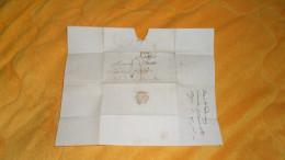 LETTRE ANCIENNE DE 1835. / DEPART ?. A SEURRE. / CACHETS + TAXE - Marcophilie (Lettres)