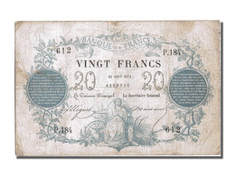 France, 20 Francs CHAZAL,1871, 1871-08-31, KM:55,... - ...-1889 Anciens Francs Circulés Au XIXème