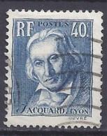 FRANCE -Yvert - 295 - Centenaire De La Mort Du Tisseur Joseph Marie Jacquard - Celebrità