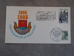 Enveloppe Oblitérée Centenaire De La Mulatière 22/06/1985 - Cachets Commémoratifs