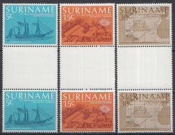 Rep. Suriname - Eerste Regelmatige Stoombootpassagiersvaartverbinding Tussen Nederland En Suriname - BRUGPAREN Z91-96 - Suriname