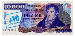 ARGENTINA 10 AUSTRALES ND(1985) Pick 322c Unc - Argentine