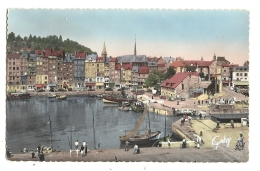 Cp, 14, Honfleur, Quai Sainte-Catherine Et La Lieutenance - Honfleur