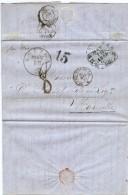 LBL37FR -  ETATS UNIS D'AMÉRIQUE  LAC NEW ORLÉANS / MARSEILLE - 1847-99 Emissions Générales