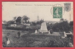 CPA *45 *Beaune-La-Rolande *1920 * Vue Générale Et Monument Bazille * Animation  *SUP  =>Scan Recto/verso - Beaune-la-Rolande