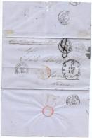 LBL37FR -  ETATS UNIS D'AMÉRIQUE  LETTRE S FRANCISCO / NANTES - 1847-99 Emissions Générales