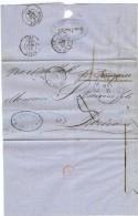 LBL37FR -  ETATS UNIS D'AMÉRIQUE  LETTRE NEW YORK / BORDEAUX - 1847-99 Emissions Générales