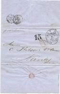 LBL37FR -  ETATS UNIS D'AMÉRIQUE  LETTRE NEW YORK / NANTES - 1847-99 Emissions Générales