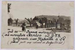 BRIGNOLES: Magnifique Photo 18 X 12 Cm: Le Passage Du Champion Stanton Sur Sa Moto, Tour De France 1923 - Brignoles