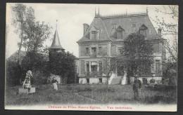 FLINS NEUVE EGLISE Rare Vue Intérieure Du Château (Breger) Yvelines (78) - Flins Sur Seine