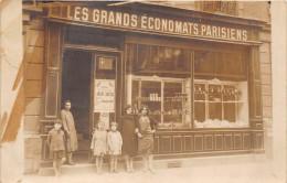 -CARTE PHOTO  PARIS  -  LES GRANDS ECONOMATS PARISIENS - Magasins