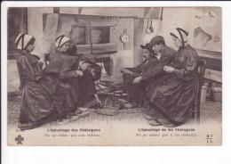 CP N° 3196 -  L'épluchage Des Châtaignes - On Ne Chôme Pas Aux Veillés - Farmers