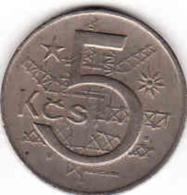 Tschechoslowakei- Tchécoslovaquie 1989, 5 Korun - Crown - Krone - Tschechoslowakei