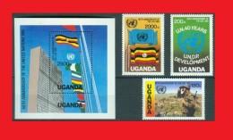OUGANDA - UGANDA 1986, UNO UN NU ONU  Drapeau Flag Peace Soldier Paix Soldat MNH ** - UNO