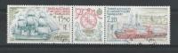 T.A.A.F. 1990 - Poste Aérienne - Timbres Yvert & Tellier N° 112 Et 113 Avec Vignette Centrale Se Tenant - Poste Aérienne