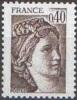 France N° 2118,** Sabine De Gandon  - Le 0f40 Brun Foncé - Unused Stamps