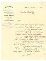 Facture Boucherie André Gaetti, Nice, Alimentation Générale - Alimentaire