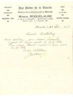 Facture Aux Halles De La Volaille ( Bresse ), Maison Roquelaure, Montpellier ( Volailles, Gibiers ...) - Alimentaire