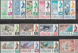 """GIBRALTAR 149-162 """"Freimarken"""" MNH / ** / Postfrisch 150 Und 160 Kleine Zahnmängel !!! - Gibraltar"""