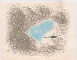 Ldiv074-  Meilleurs Voeux Du Secrétariat Général à L'Aviation Civile Et Commerciale En 1956 - Anno Nuovo