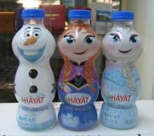 AC - FROZEN - HAYAT WATER EMPTY PLASTIC BOTTLES & CAPS - Otras Colecciones