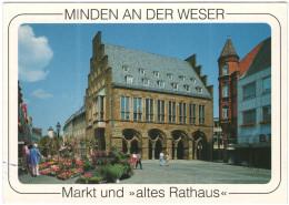 GERMANIA - GERMANY - Deutschland - ALLEMAGNE - Minden An Der Weser - Markt Und Altes Rathaus - Wrote But Not Sent - Minden