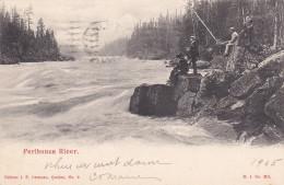 QUEBEC, Canada, PU-1905; Peribonca River, Men Fishing - Quebec