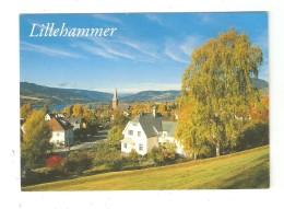 CPSM  Norvège LILLIHAMMER Maisons Clocher Lac Montagnes - Norwegen