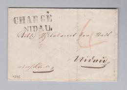 Schweiz Vorphila 1848-09-21 NIDAU Seltener Orts Chargé Brief - Suisse
