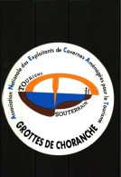 Autocollant   -      Grottes De CHORANCHE -  Tourisme Souterrain - Stickers