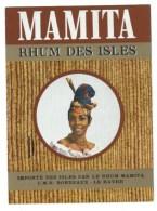 "Etiquette  Rhum Mamita Rhum Des Isles  CMR Bordeaux Le Havre  ""visage Femme Coiffe"" - Rhum"