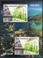 Bosnia Croatia 2016 Europa CEPT, Think GREEN, Environment, Bicycle, Block, Souvenir Sheet MNH - Bosnie-Herzegovine