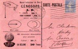 TB 984 - Carte Postale Publicitaire Indicateur De Sexe Génosope  MAX PARIS XII Pour NANDY Par CESSON - Advertising