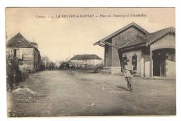 CPA 19 LA RIVIERE DE MANSAC Place Du Tramway Et Grande Rue - Autres Communes