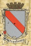 CPA (BARRE ET DAYEZ )    Blason  De  La   Ville De  STASBOURG (defaut Coin  Haut Gauche) - Illustratori & Fotografie