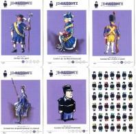 Militaria - Gendarmerie - 5 Cartes D'un Jeu Des 7 Familles - Tenue Diverses époques - Gendarme D'élite - Archer - Etc - Police