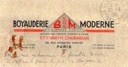 TB 987 -  Carte  Publicitaire B M Ets VARTH CHABANIAN PARIS  Pour VARREDDES - Advertising