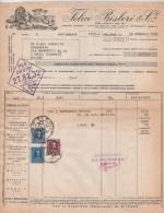 DITTA FABBRICA FELICE BISLERI MILANO FERRO CHINA BISLERI ACQUA NOCERA UMBRA  BEVANDE 1952 - Italia