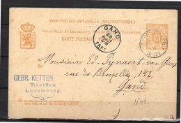 1881 GEBR> KETTEN Rosiften > Gand Belgie (L26) - Entiers Postaux