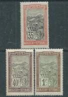 Madagascar N° 103 / 04 + 108 X Partie De Série Transport En Filanzane : Les 3 Valeurs Trace De Charnière Sinon TB - Madagascar (1889-1960)