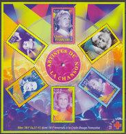 Bloc Feuillet Neuf ** N° 37(Yvert) France 2001 - Musique, Artistes De La Chanson - Sheetlets