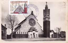 CARTE MAXIMUM: FRANCE: Eglise Notre-Dame-des-Missions à EPERNAY-sur-SEINE 1er Jour 2016 - Churches & Cathedrals