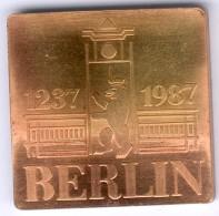 """DDR Medaille Aus Der Münztasche """"750 Jahre Berlin 1987"""" UNC.- - [ 6] 1949-1990 : RDA - Rép. Démo. Allemande"""