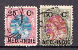 Netherlands Indies 2 Used Overprinted Stamps - Indes Néerlandaises